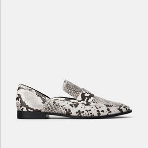 Zara animal print loafers